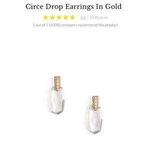 Kendra Scott Circle Drop Earrings